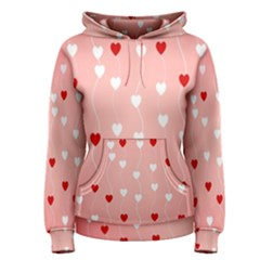 Heart Shape Background Love Women s Pullover Hoodie