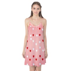 Heart Shape Background Love Camis Nightgown