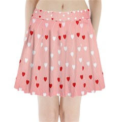 Heart Shape Background Love Pleated Mini Skirt