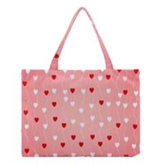 Heart Shape Background Love Medium Tote Bag by Nexatart