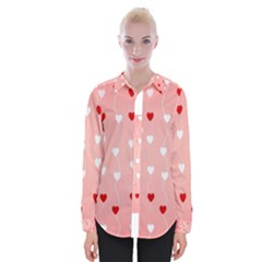 Heart Shape Background Love Womens Long Sleeve Shirt