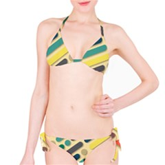 Background Vintage Desktop Color Bikini Set