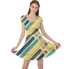 Background Vintage Desktop Color Cap Sleeve Dress