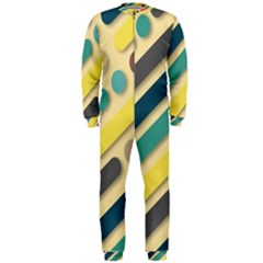 Background Vintage Desktop Color Onepiece Jumpsuit (men)