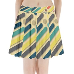 Background Vintage Desktop Color Pleated Mini Skirt