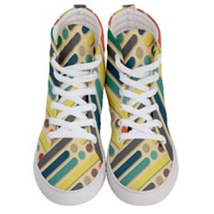 Background Vintage Desktop Color Men s Hi Top Skate Sneakers