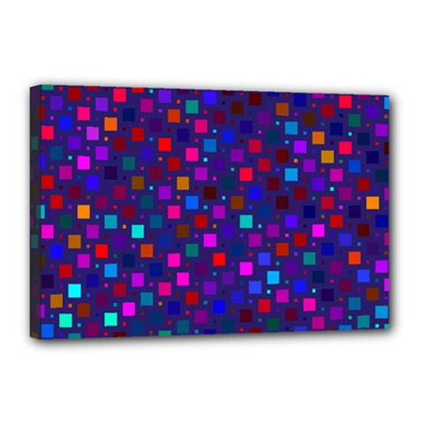 Squares Square Background Abstract Canvas 18  X 12