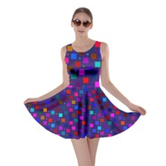 Squares Square Background Abstract Skater Dress