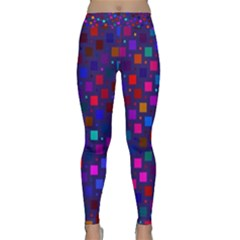 Squares Square Background Abstract Classic Yoga Leggings