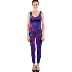 Squares Square Background Abstract One Piece Catsuit