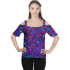 Squares Square Background Abstract Cutout Shoulder Tee