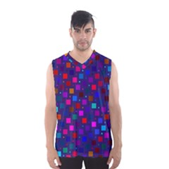 Squares Square Background Abstract Men s Basketball Tank Top