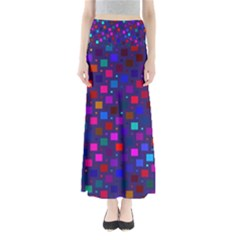 Squares Square Background Abstract Full Length Maxi Skirt
