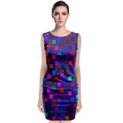 Squares Square Background Abstract Classic Sleeveless Midi Dress