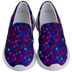 Squares Square Background Abstract Kid s Lightweight Slip Ons