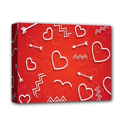 Background Valentine S Day Love Deluxe Canvas 14  X 11