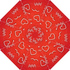Background Valentine S Day Love Hook Handle Umbrellas (small)