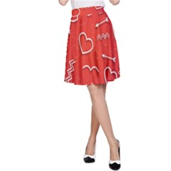 Background Valentine S Day Love A Line Skirt