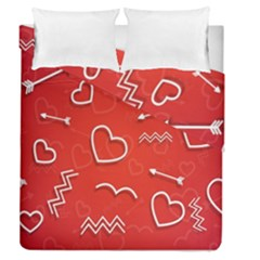 Background Valentine S Day Love Duvet Cover Double Side (queen Size)
