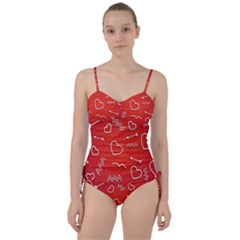 Background Valentine S Day Love Sweetheart Tankini Set