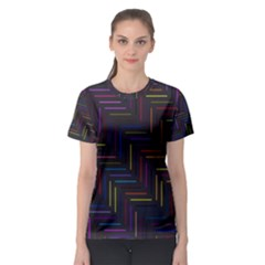 Lines Line Background Women s Sport Mesh Tee