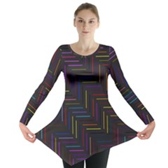 Lines Line Background Long Sleeve Tunic