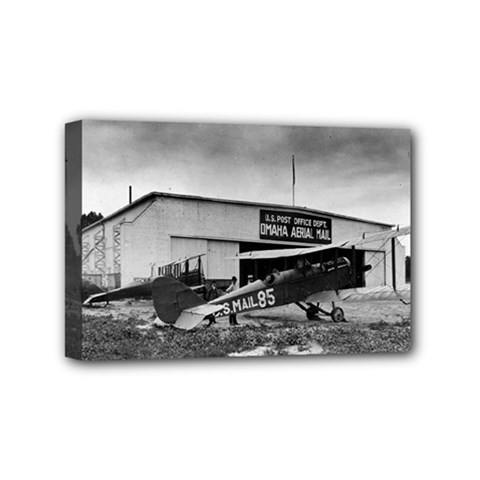 Omaha Airfield Airplain Hangar Mini Canvas 6  X 4
