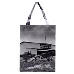 Omaha Airfield Airplain Hangar Classic Tote Bag