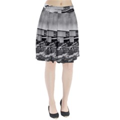 Omaha Airfield Airplain Hangar Pleated Skirt