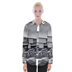 Omaha Airfield Airplain Hangar Womens Long Sleeve Shirt