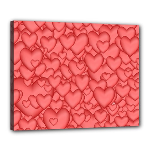 Background Hearts Love Canvas 20  X 16