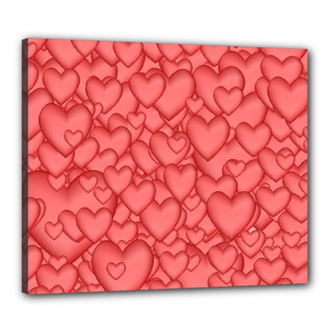 Background Hearts Love Canvas 24  X 20