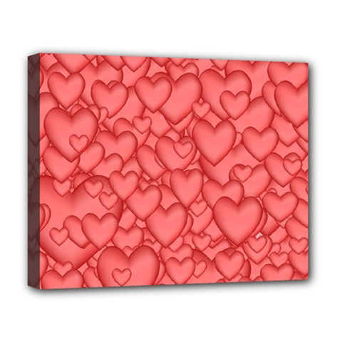 Background Hearts Love Deluxe Canvas 20  X 16