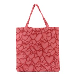 Background Hearts Love Grocery Tote Bag
