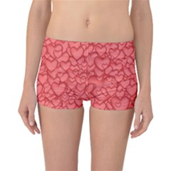 Background Hearts Love Boyleg Bikini Bottoms