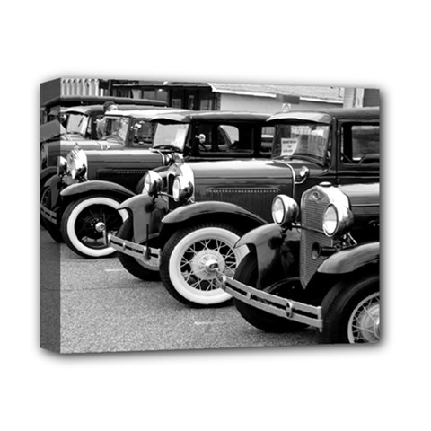 Vehicle Car Transportation Vintage Deluxe Canvas 14  X 11