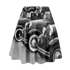 Vehicle Car Transportation Vintage High Waist Skirt