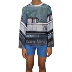 Vintage Car Automobile Auburn Kids  Long Sleeve Swimwear