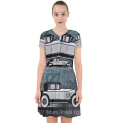 Vintage Car Automobile Auburn Adorable In Chiffon Dress