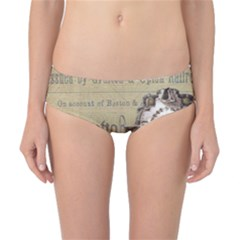 Train Vintage Tracks Travel Old Classic Bikini Bottoms