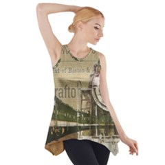 Train Vintage Tracks Travel Old Side Drop Tank Tunic