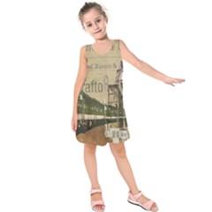 Train Vintage Tracks Travel Old Kids  Sleeveless Dress