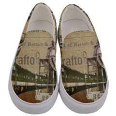 Train Vintage Tracks Travel Old Men s Canvas Slip Ons