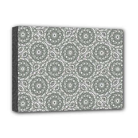 Grey Ornate Decorative Pattern Deluxe Canvas 16  X 12   by dflcprints