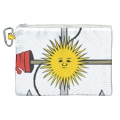 Symbol Of Argentine Navy  Canvas Cosmetic Bag (xl) by abbeyz71