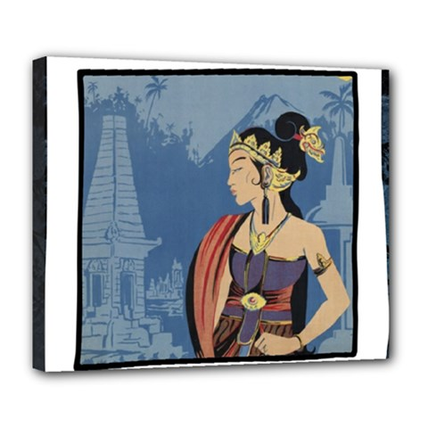 Java Indonesia Girl Headpiece Deluxe Canvas 24  X 20