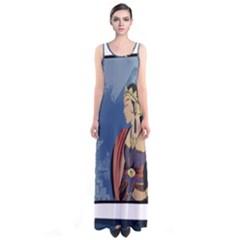 Java Indonesia Girl Headpiece Sleeveless Maxi Dress