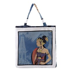 Java Indonesia Girl Headpiece Grocery Tote Bag