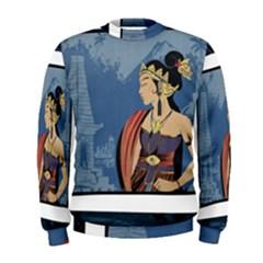 Java Indonesia Girl Headpiece Men s Sweatshirt