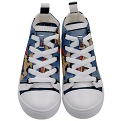 Java Indonesia Girl Headpiece Kid s Mid Top Canvas Sneakers